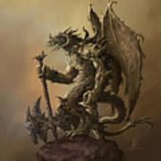 Humanoid Dragon Art Print