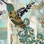 Hummingbird Batik Art Print