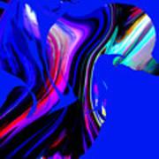 Hummingbird In The Blue. Art Print
