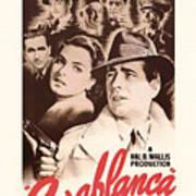 Humphrey Bogard And Ingrid Bergman In Casablanca 1942 Art Print
