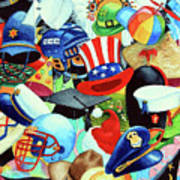 Hundreds Of Hats Art Print by Hanne Lore Koehler