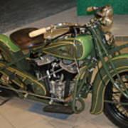 Hunter Green Indian Motorcycle...   # Art Print