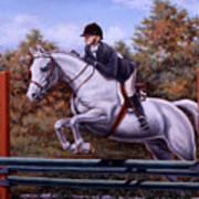 Hunter Pony Art Print