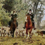 Hunting Dogs For Wild Boar Art Print