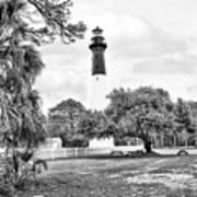 Hunting Island Lighthouse Art Print