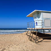 Huntington Beach Lifeguard Tower Photo Art Print by Paul Velgos
