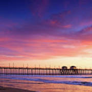 Huntington Beach Pier Sunset  Art Print