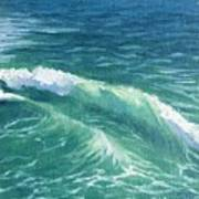 Huntington Small Waves  Art Print
