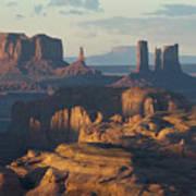 Hunt's Mesa View 7602 Art Print