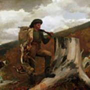 A Huntsman And Dogs Art Print
