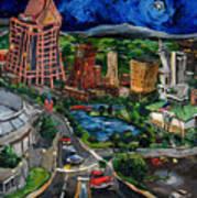 Huntsville Skyline Print by Carole Foret
