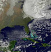 Hurricane Sandy Battering The United Art Print