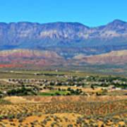 Hurricane Utah And Red Cliffs Nca Art Print