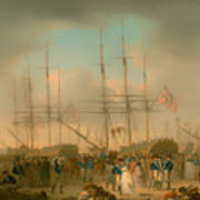 Hussars Embarking At Deptford Art Print