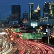 Hustle And Bustle Of Atlanta Roadways Art Print