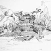 Hut In The Hills Art Print