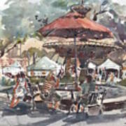 Hyde Park Market Plein Air Art Print