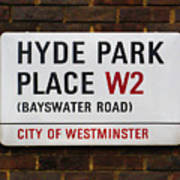 Hyde Park Place Art Print