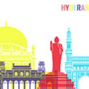 Hyderabad Skyline Pop Art Print