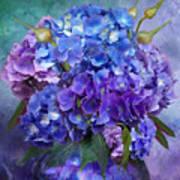 Hydrangea Bouquet - Square Art Print
