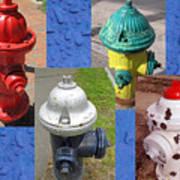 Hydrants 2 Art Print