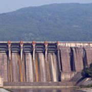 Hydroelectric Power Plants On River Art Print