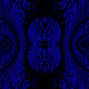 Hyper Tidal Blue Art Print