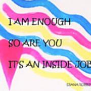 I Am Enough Art Print