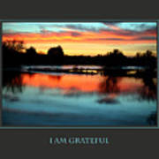 I Am Grateful Art Print