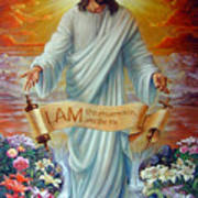 I Am The Resurrection Art Print