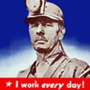 I Have A Real War Job Art Print