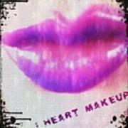 I Heart Makeup Art Print