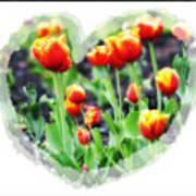 I Heart Tulips Art Print