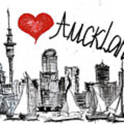 I Love Auckland  Art Print
