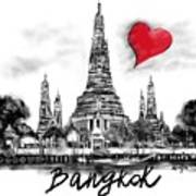 I Love Bangkok Art Print