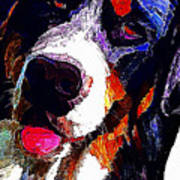 I Love Mountain Dogs Art Print