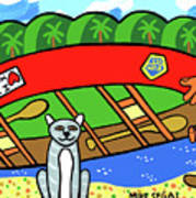 I Love My Canoe Art Print