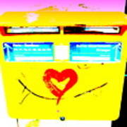 I Love You ... French Mailbox Style  Art Print