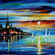 I Saw A Dream - Palette Knife Oil Painting On Canvas By Leonid Afremov Art Print