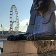 I Sphinx It Is The London Eye Art Print