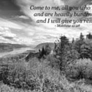 I Will Give You Rest Art Print