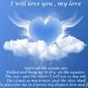 I Will Love You, My Love Art Print
