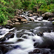 Iao Valley Stream Art Print