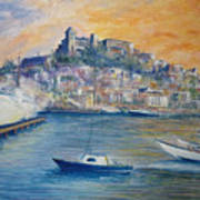 Ibiza Old Town Marina And Port Art Print