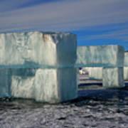Ice Blocks Art Print