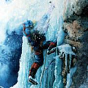 Ice Climb Art Print