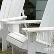 Ice-coated Chairs Art Print