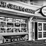 Ice Cream And Candy Shop At The Boardwalk - Jersey Shore Art Print