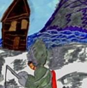 Ice Fishing Art Print