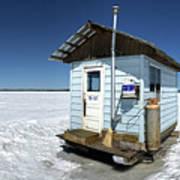 Ice Fishing Shack Art Print